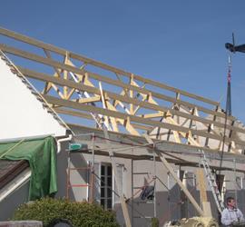 Aperçu des aménagements combles par SCCA Santa Cristina toiture et charpente à crissey chalon sur saone en saone et loire 71